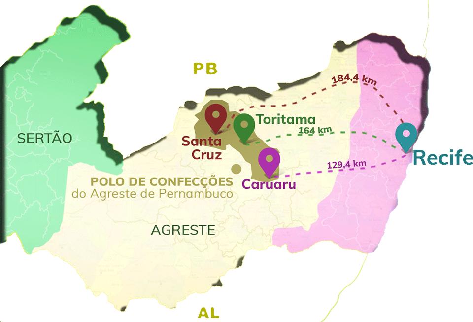 4e799fb956 É no Agreste de Pernambuco onde está localizado o maior polo de confecções  do Nordeste. O LeiaJá viajou até as cidades de Santa Cruz do Capibaribe